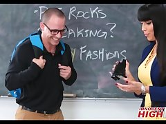 Hot MILF High School Teacher Mercedes Carrera Fucks Nerdy Student