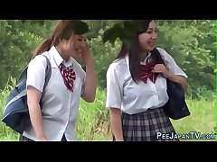 Japanese teenagers pissing