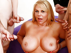 Big Tits Mature Barista Karen Fisher Gets Gangbanged